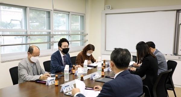 세종시의회 임채성 의원, '냉‧난방 실내기 세척업무 협의회' 참석
